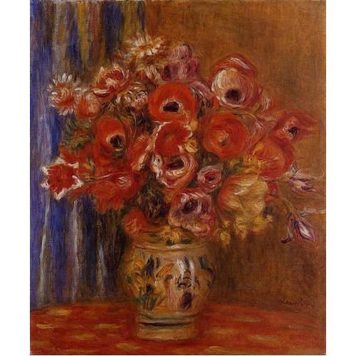 Vase of Tulips and Anemones