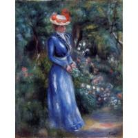 Woman in a Blue Dress Garden of Saint Cloud