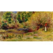 Woman Wearing a Hat in a Landscape
