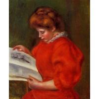 Young Woman Looking at a Print