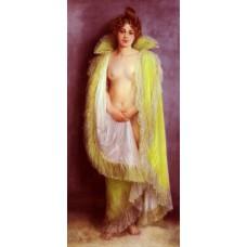 Femme En Deshabillee Verte