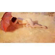 Nude under a Parasol