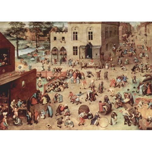 Pieter brueghel the elder children playing detail