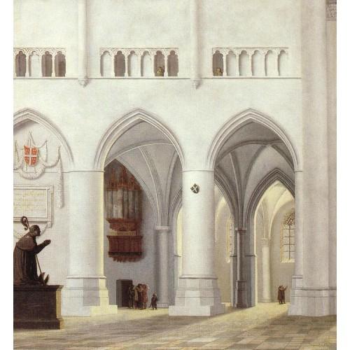 Interior of the Church of St Bavo at Haarlem 1