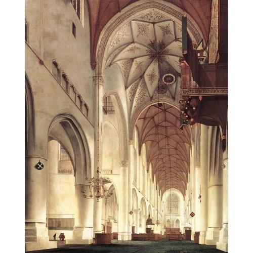 Interior of the Church of St Bavo at Haarlem 2