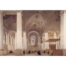 Interior of the Nieuwe Kerk in Haarlem