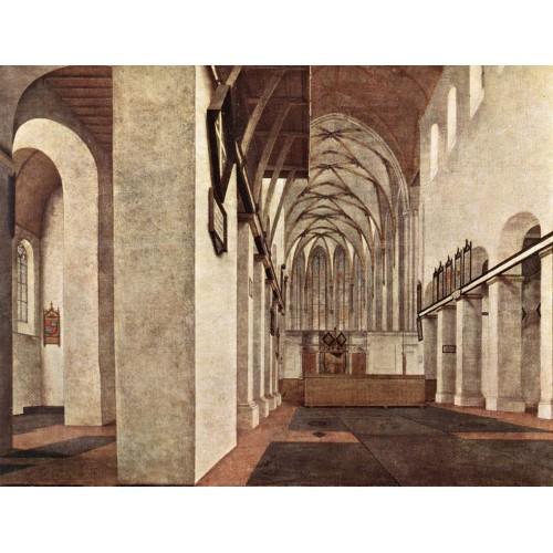 Interior of the St Jans Kerk at Utrecht