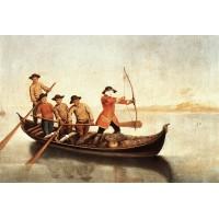 Duck Hunters on the Lagoon