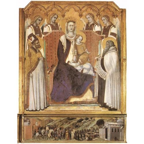 Madonna with Angels between St Nicholas and Prophet Elisha