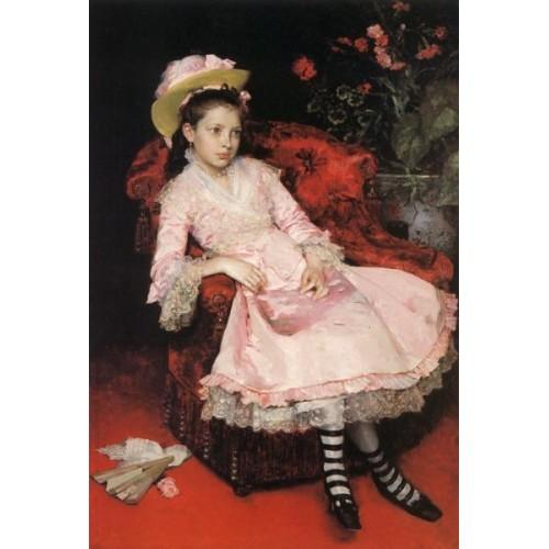Garreta Girl in pink dress