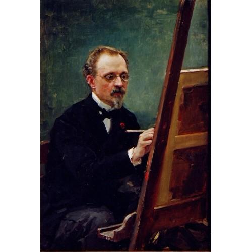 Portrait of Federico de Madrazo painting
