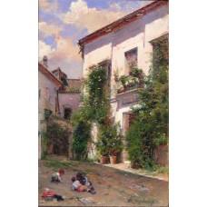 Raimundo Madrazo El patio de San Miguel en la Catedral de Sevilla