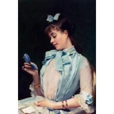 Raimundo Madrazo Portrait Of Aline Mason In Blue