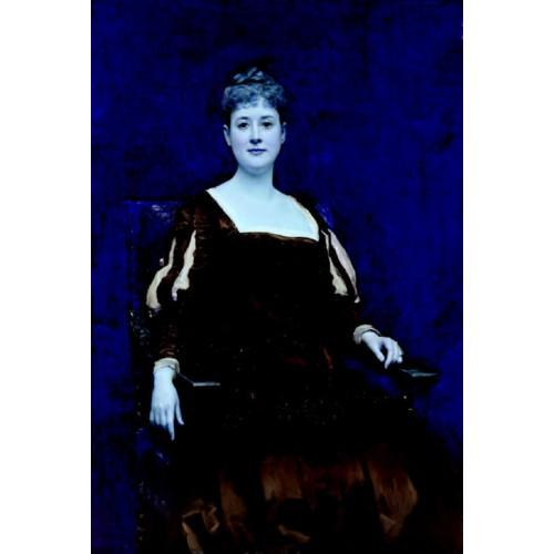Retrato de senora vestida de negro