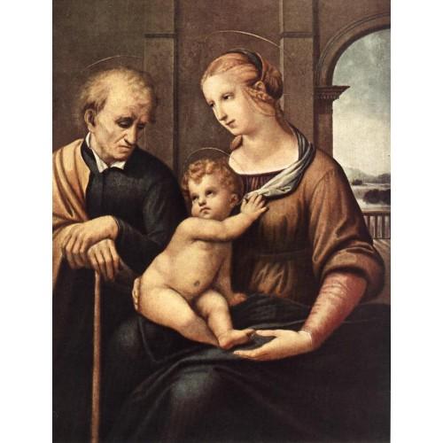 Madonna with Beardless St Joseph