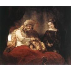 Jacob Blessing the Children of Joseph