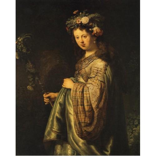 Saskia as Flora