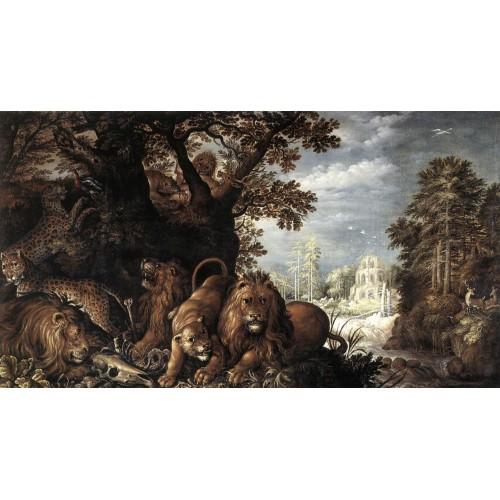 Landscape with Wild Animals