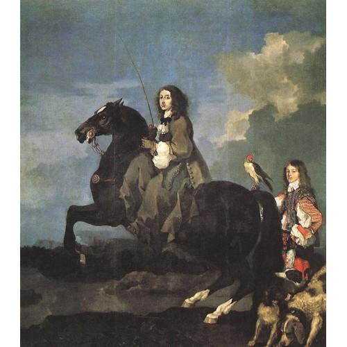 Queen Christina of Sweden on Horseback