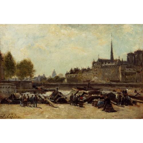The Apple Marker Quai de Gesvres and Quay de l'Hotel de Vil