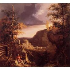 Daniel Boone Sitting at the Door of His Cabin