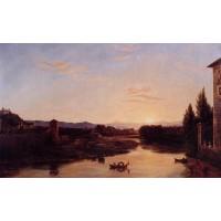 Sunset on the Arno