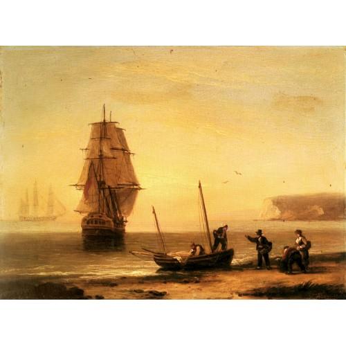 Fishermen unloading the catch