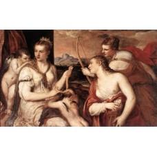 Venus Blindfolding Cupid