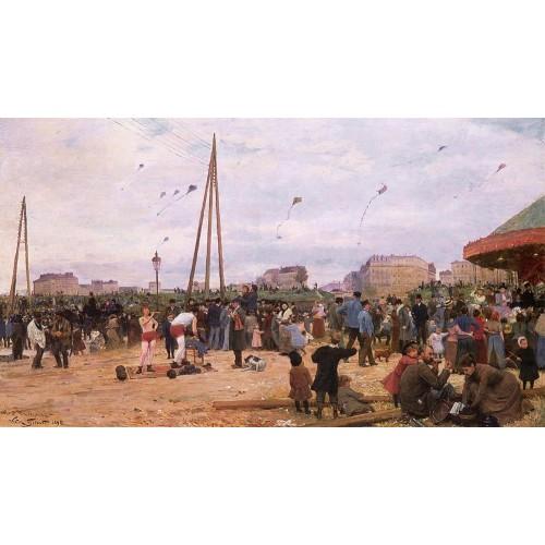 The Fairgrounds at Porte de Clignancourt Paris