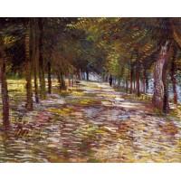 Avenue in the Voyer d'Argenson Park at Asnieres