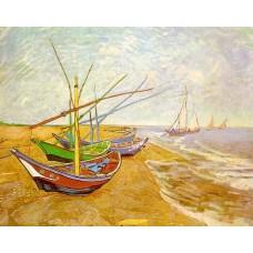 Fishing Boats on the Beach at Saintes Maries