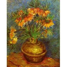 Fritillaries in a Copper Vase