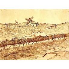 Landscape with alphonse daudet s windmill