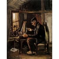 Man winding yarn