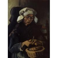 Peasant Woman Peeling Potatoes Neunen