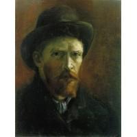 Self Portrait with Dark Felt Hat