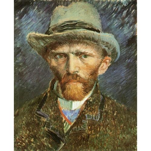 Self Portrait with Grey Felt Hat 1
