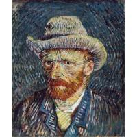 Self Portrait with Grey Felt Hat 2