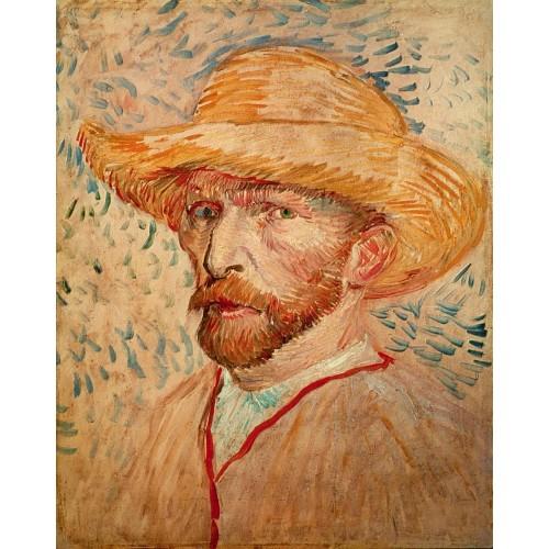 Self Portrait with Straw Hat 1