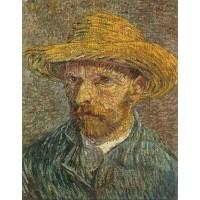 Self Portrait with Straw Hat 3