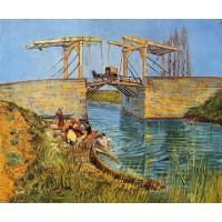 The Langlois Bridge at Arles with Women Washing 1