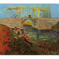 The Langlois Bridge at Arles with Women Washing 2