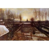 The Parsonage Garden at Nuenen in the Snow 1