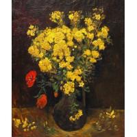 Vase with lychnis
