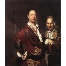 Portrait of Giovanni Secco Suardo and his Servant