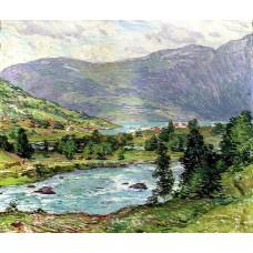 Mountain lakes olden norwas