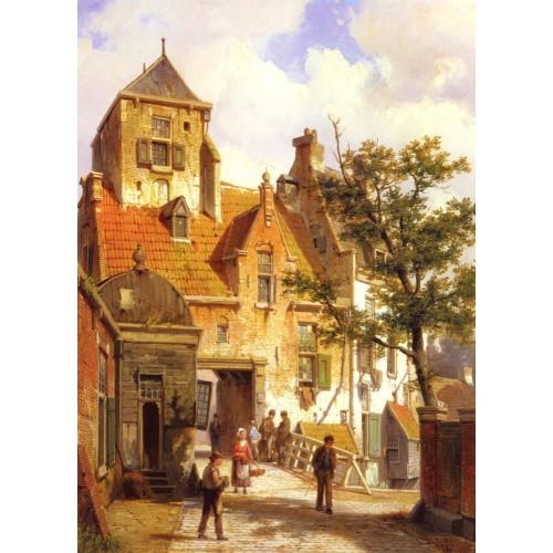 A Street Scene in Haarlem