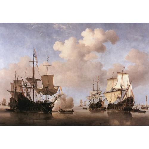 Dutch Ships Coming to Anchor