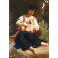 The Joys of Motherhood (Girl Tickling a Child)