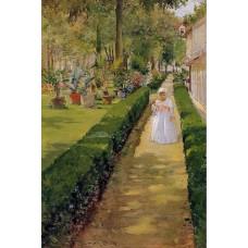 Child on a Garden Walk
